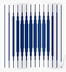 SQUARE LINE (BLUE) Póster