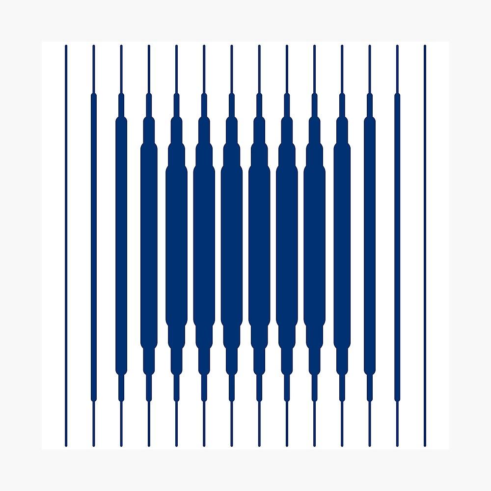 SQUARE LINE (BLUE) Lámina fotográfica