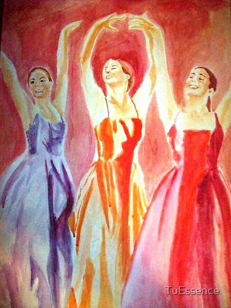 Three Colorful Dancers by TuEssence