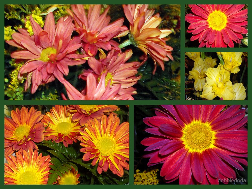 Colorful Flowers by debbiedoda