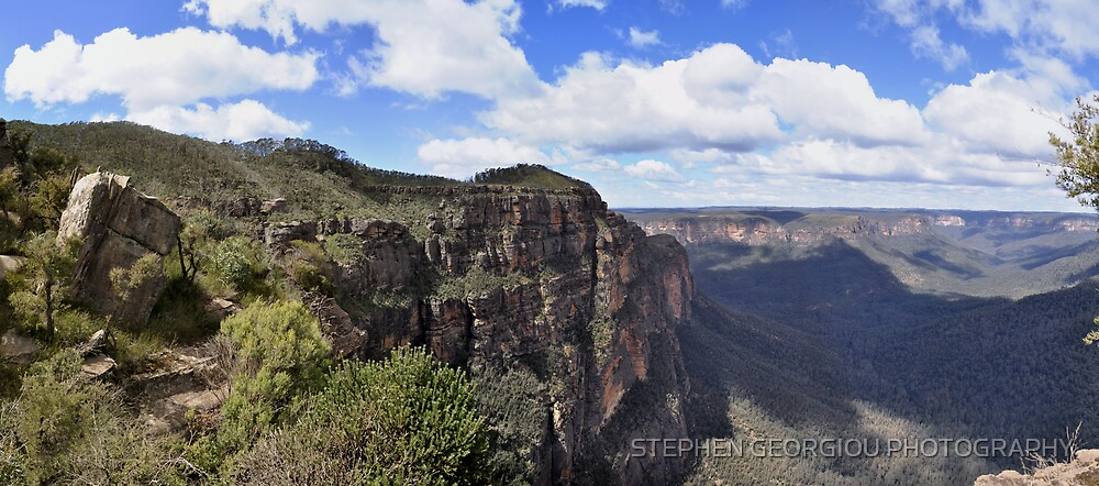 View from Mt Banks by STEPHEN GEORGIOU PHOTOGRAPHY