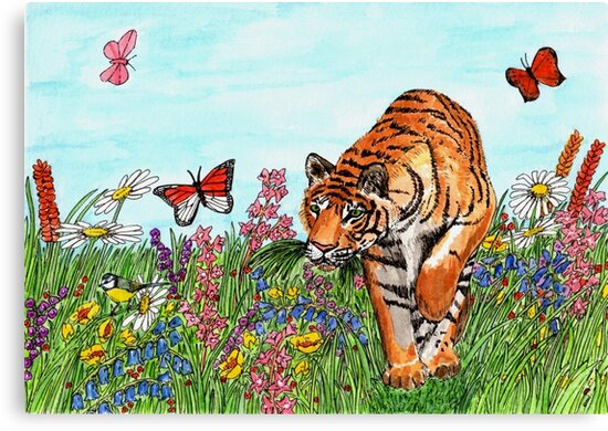 Tiger in a Perfect World by EuniceWilkie