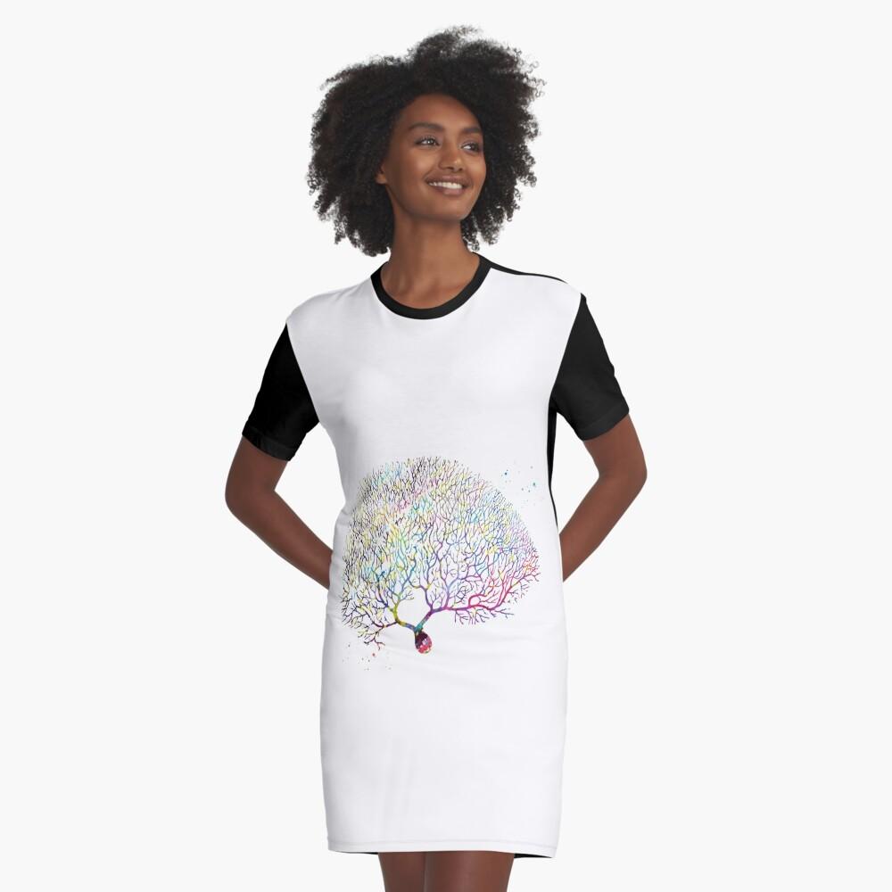 Purkinje Neuron Graphic T-Shirt Dress