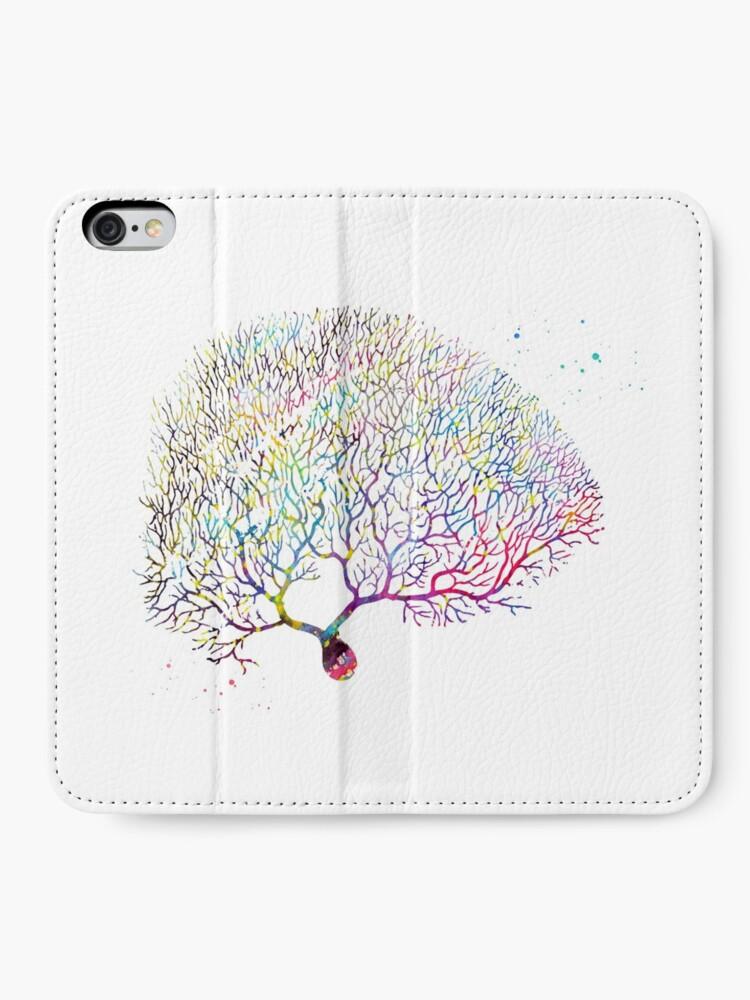 Alternate view of Purkinje Neuron iPhone Wallet