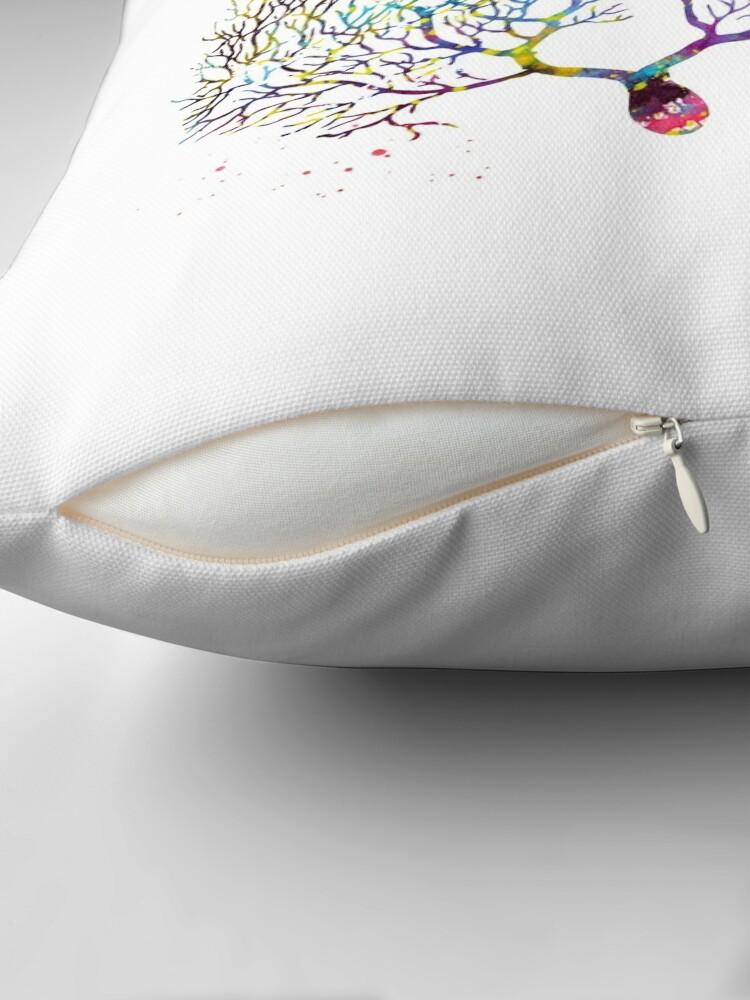 Alternate view of Purkinje Neuron Throw Pillow