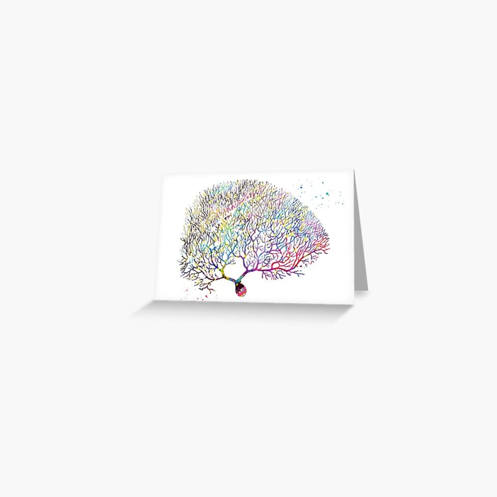 Purkinje Neuron Greeting Card