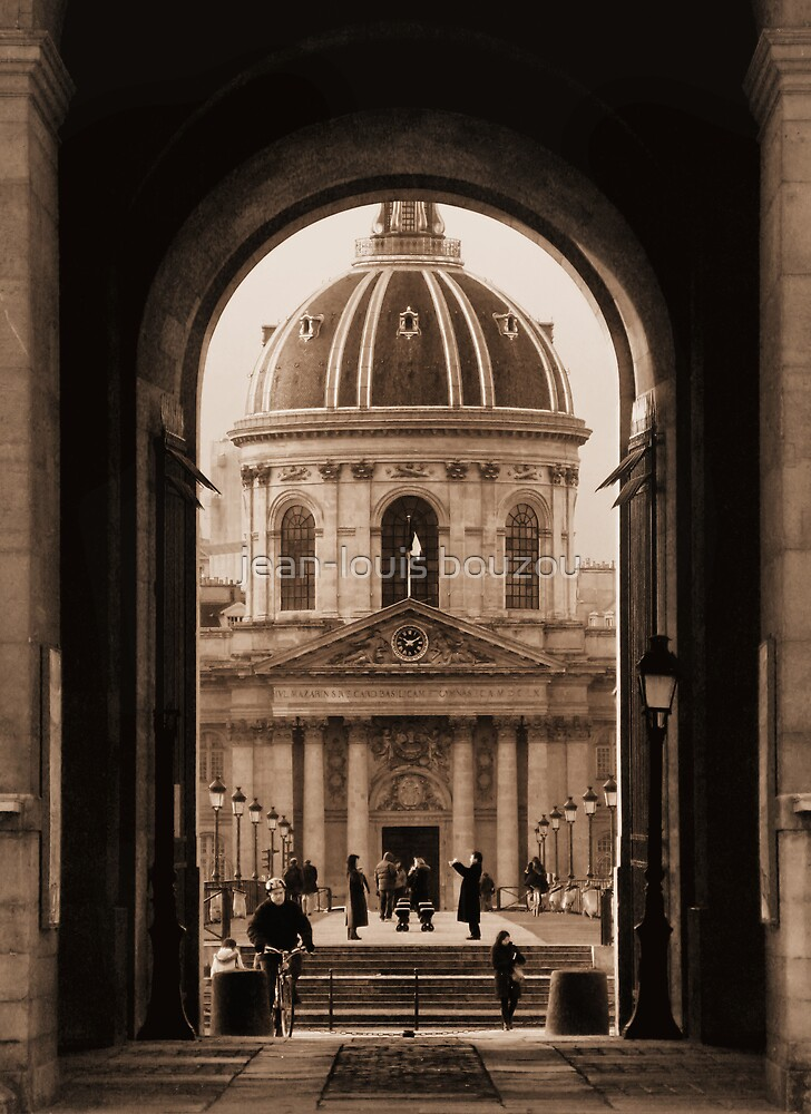 Paris - Dome of The French Institute - View From The Louvre Museum by jean-louis bouzou