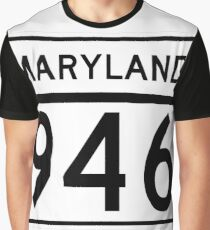 Maryland Route MD 946 | United States Highway Shield Sign Sticker Graphic T-Shirt
