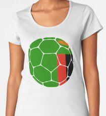 Sambia Fußball Flagge Premium Rundhals-Shirt
