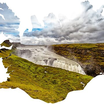 Souvenir of Gullfoss Waterfall and Iceland by dianecmcac