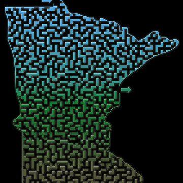 Minnesota State Outline Maze & Labyrinth by gorff