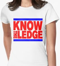 KNOW THE LEDGE Women's Fitted T-Shirt