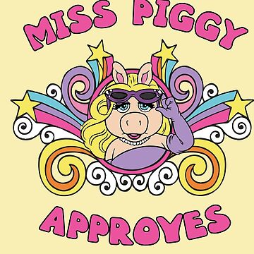 Miss Piggy Muppets Muppet Show 70s 1970s Stars Psychedelic by neonfuture
