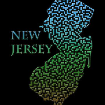 New Jersey State Outline Maze & Labyrinth by gorff