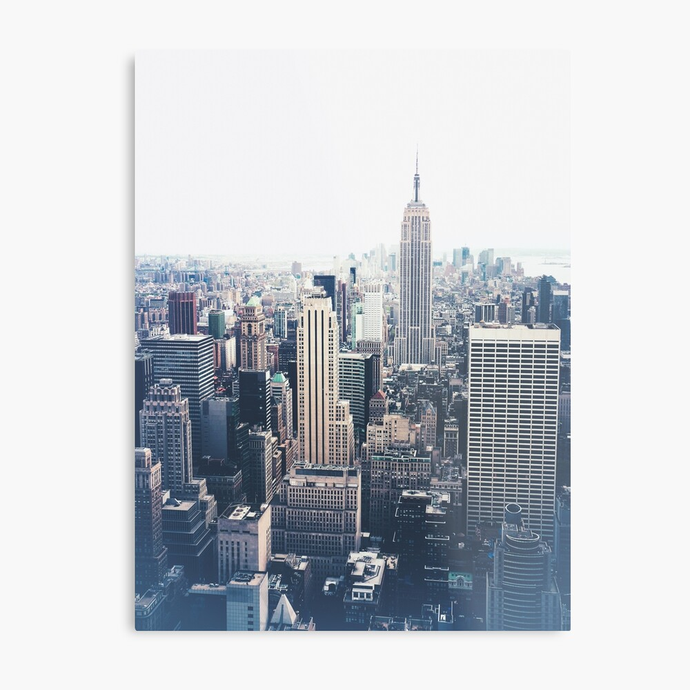 Foggy Day in New York City Metal Print