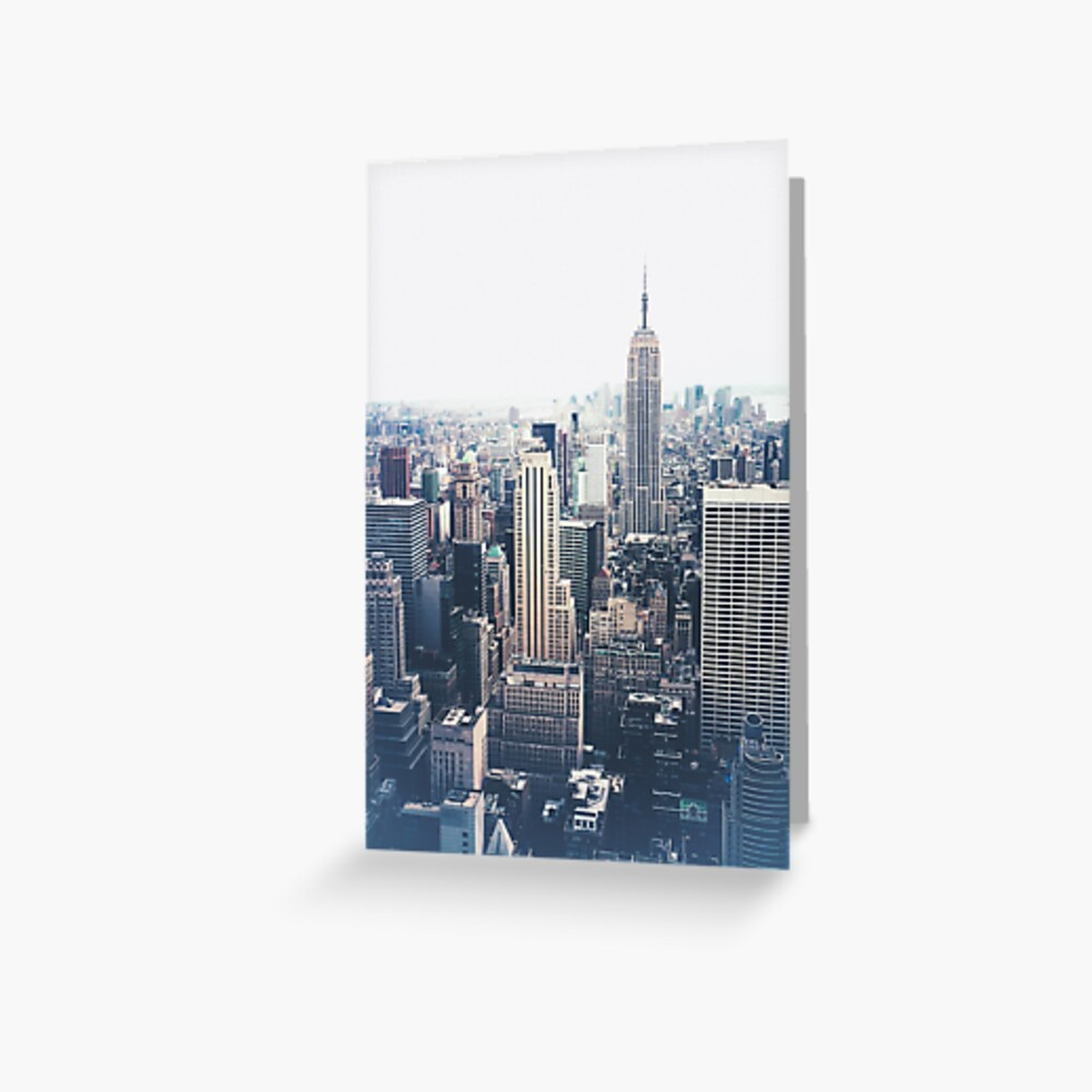 Foggy Day in New York City Greeting Card
