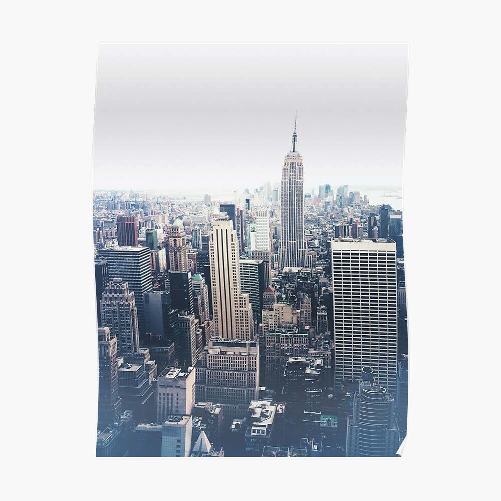 Foggy Day in New York City Poster