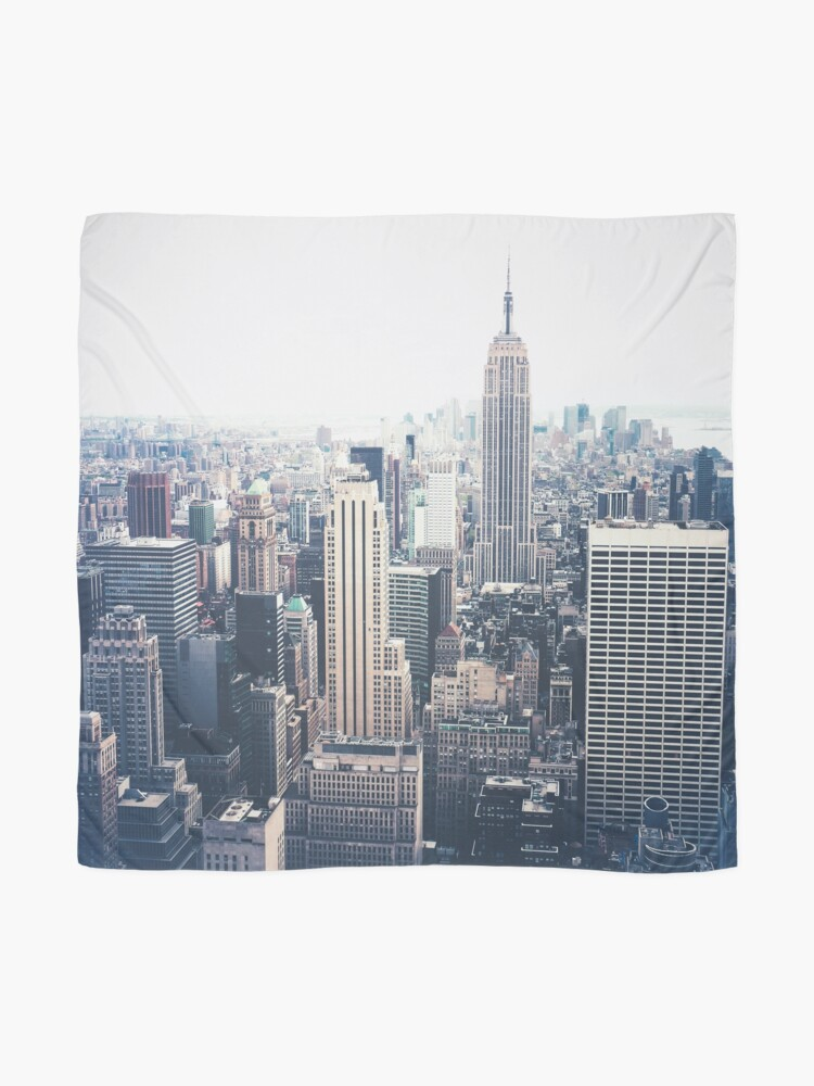 Alternate view of Foggy Day in New York City Scarf
