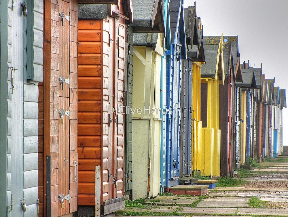 Brightlingsea beach huts by CliveHarris