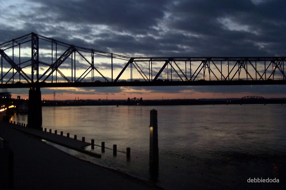 Bridge Over Ohio River by debbiedoda