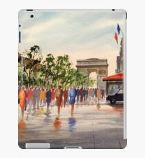 Champs Elysees and Arc De Triomphe iPad Case/Skin