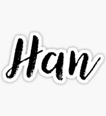 Han - Cute Names For Girls Stickers & Shirts Sticker
