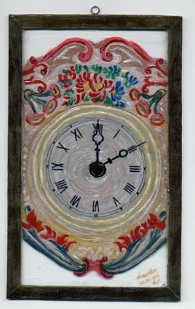 GLASS - CLOCK by nneri12