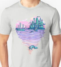 Blue CIty Violet Sea Unisex T-Shirt