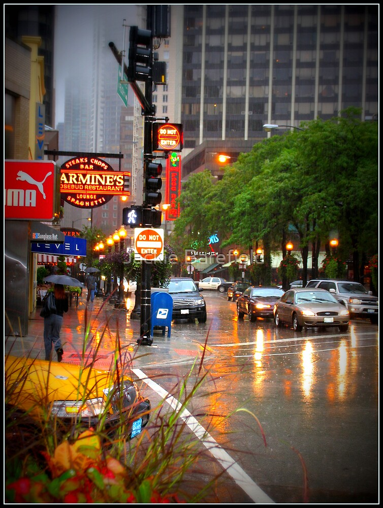 Chicago Rain 1 by Jackie Barefield
