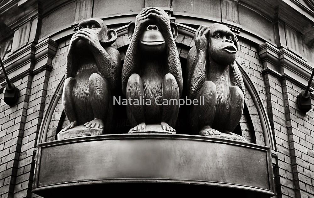 hear no evil, see no evil, speak no evil... by Natalia Campbell