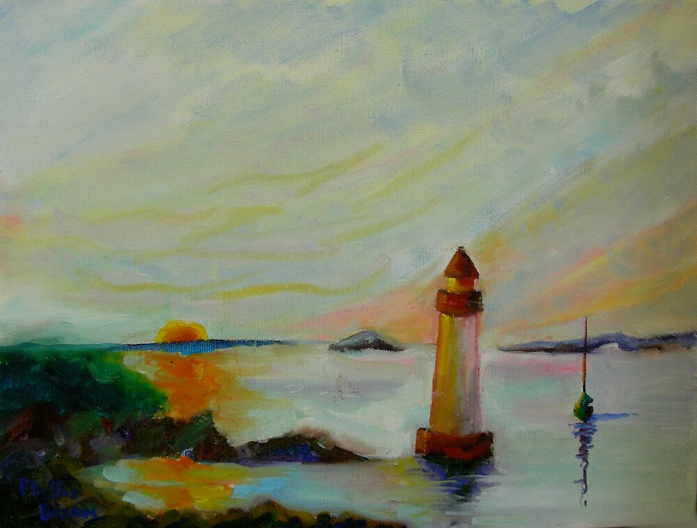 Salem Harbor - Summer Dawn by Phyllis Dixon