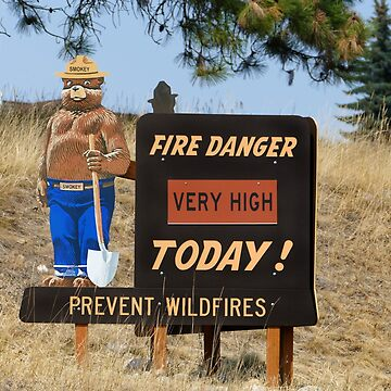 Fire Danger Sign, Montana by cathysherman