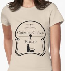 Crème de la Crème a la Edgar V.2 Women's Fitted T-Shirt