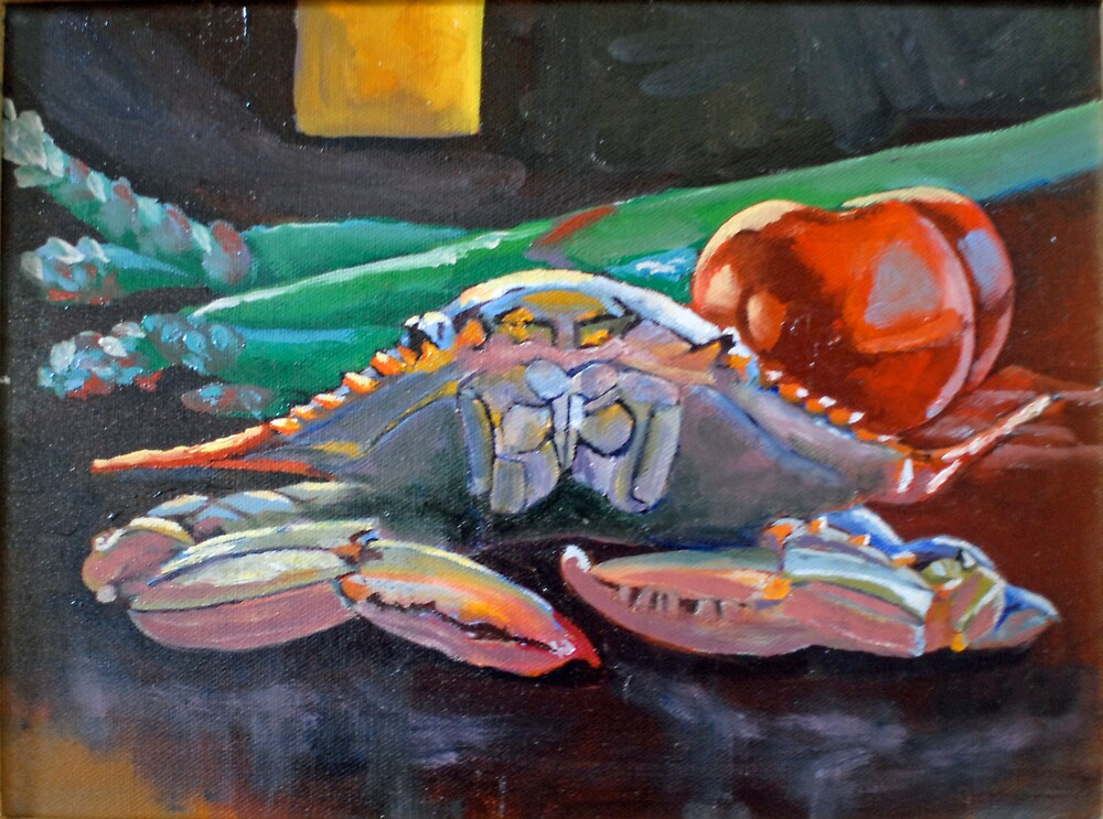 Live Soft Crab by Phyllis Dixon
