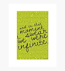 We Were Infinite - Quotes Photographic Print