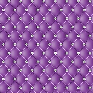 Elegant DDeep Purple Diamond Tufted Look Upholstery Pattern by jollypockets