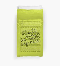 We Were Infinite - Quotes - Green Duvet Cover