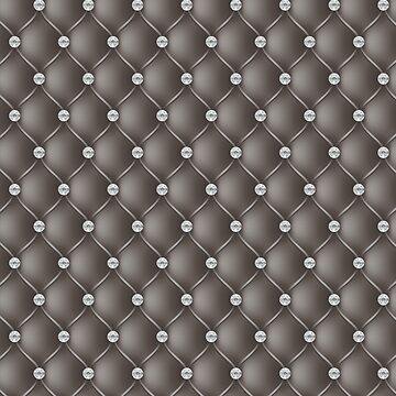 Elegant Taupe Diamond Tufted Look Upholstery Pattern by jollypockets