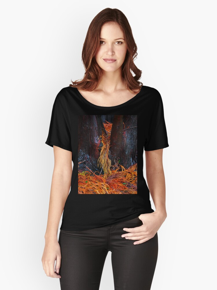 Firey Fronds Women's Relaxed Fit T-Shirt Front
