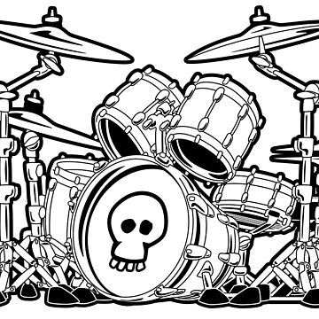 Drum Set Cartoon by hobrath