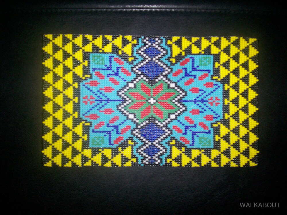 bead work  by wolf by WALKABOUT