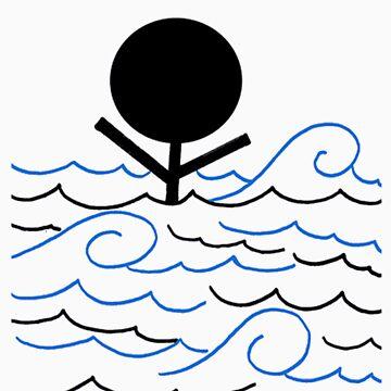 man drowning by DaisyLuluLola