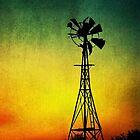 Shabby Windmill by Paula McManus