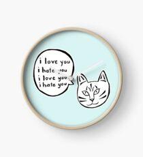 I love you I hate you Clock