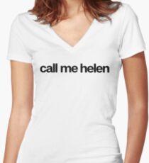 Call Me Helen - Cool Custom Stickers Shirt Women's Fitted V-Neck T-Shirt