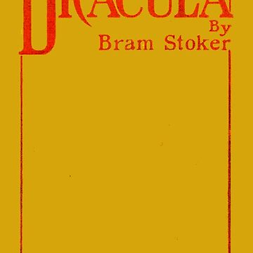 Dracula Bram Stoker First Edition Book Cover by buythebook86