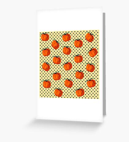 Pop Art Cascading Pumpkins Greeting Card
