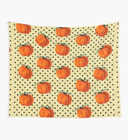 Pop Art Cascading Pumpkins Wall Tapestry