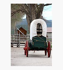 Covered Wagon at Cove Fort Utah Photographic Print