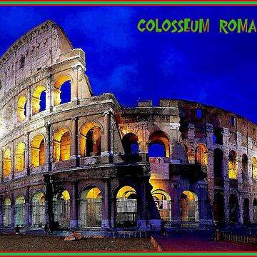 COLOSSEUM ROMA : Vintage World Heritage Print by posterbobs
